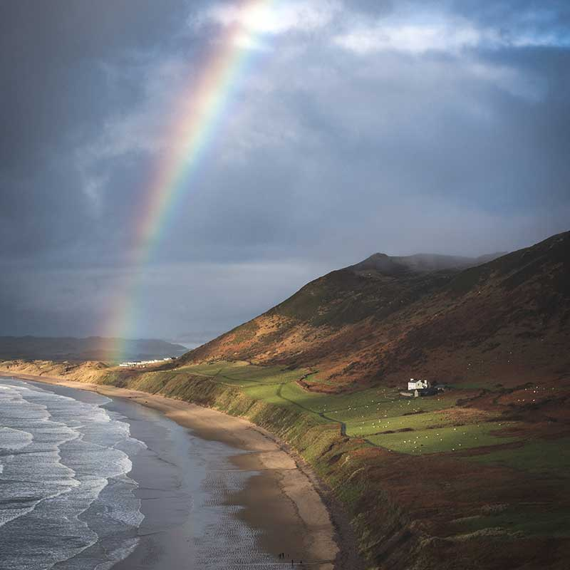 Gower rainbow